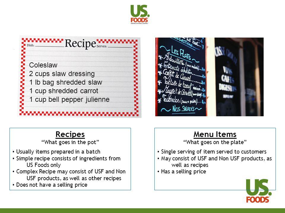 Recipes vs.