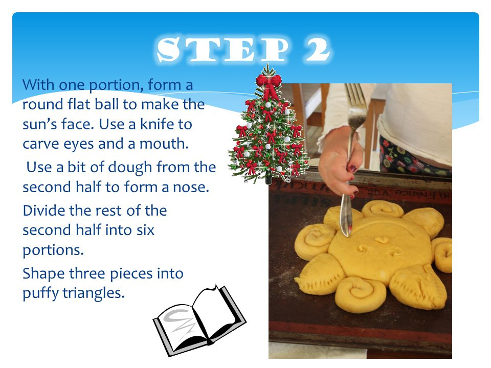 How to make,,SUN bread. 1 step. Mix yeast and milk.
