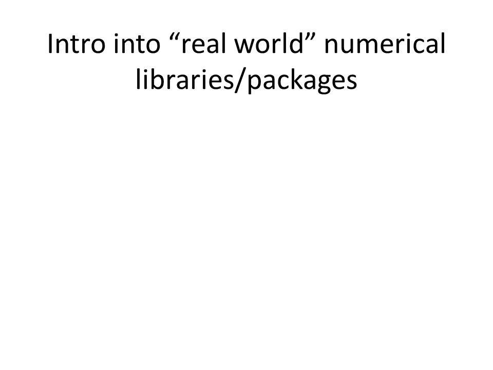 A realistic scenario: You are solving Using an iterative method (e.g.