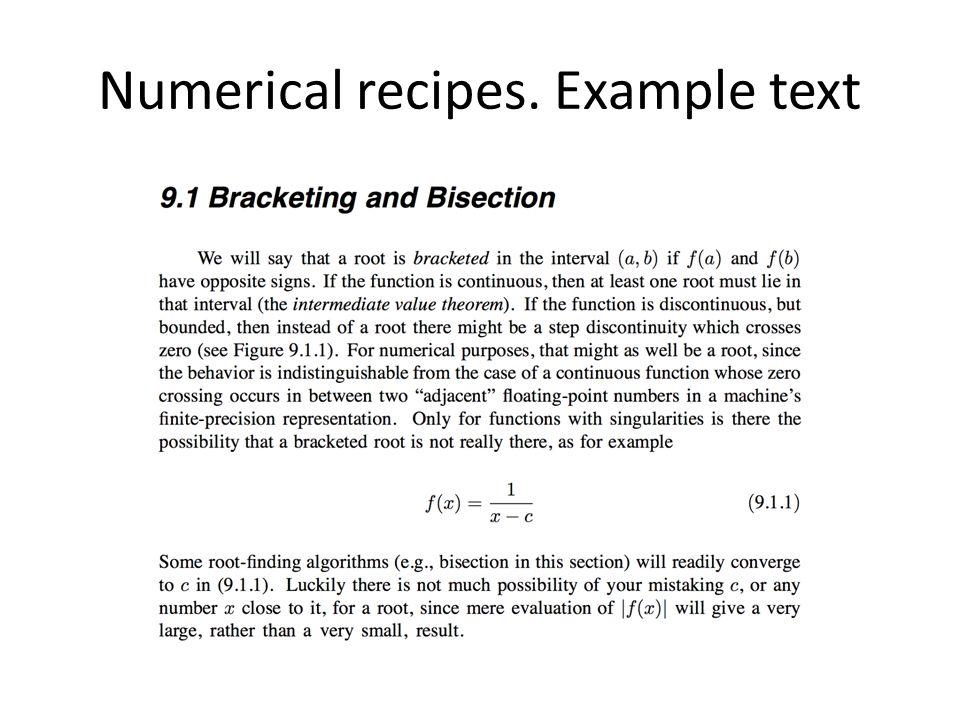 Numerical recipes