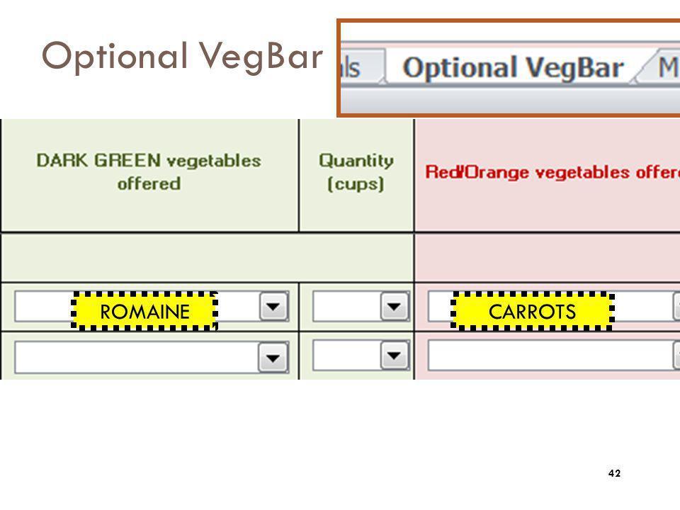 Optional VegBar ROMAINECARROTS 42