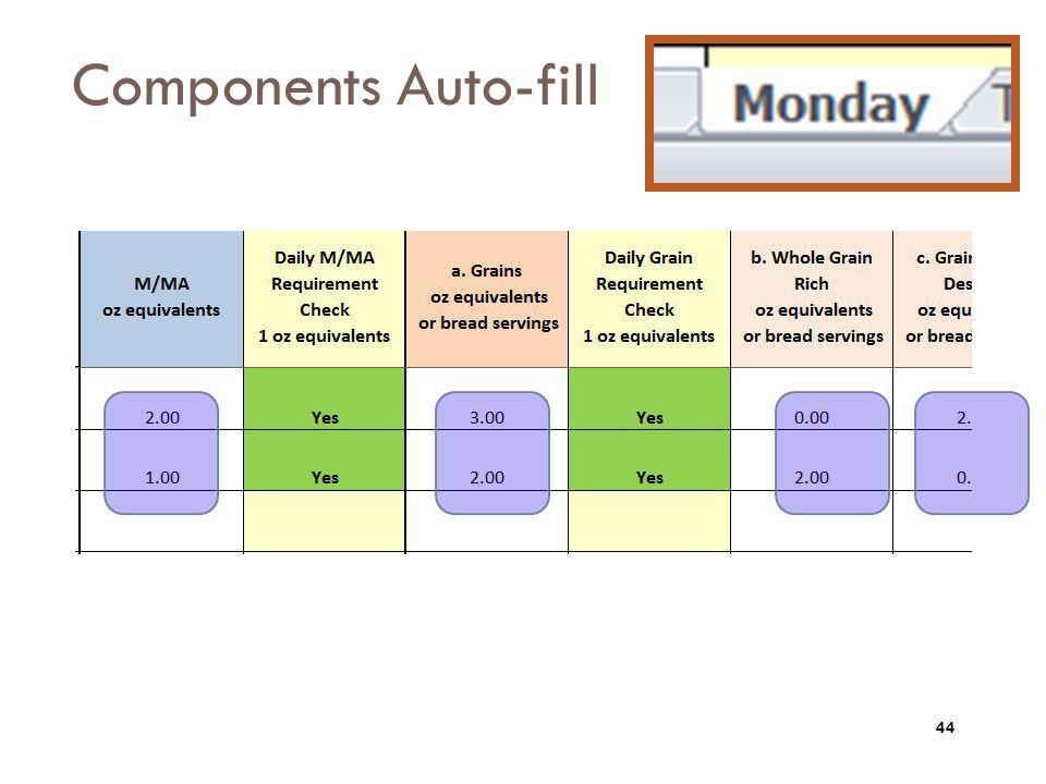 Components Auto-fill 44