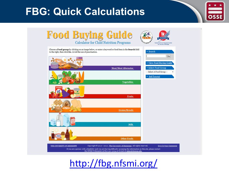 FBG: Quick Calculations http://fbg.nfsmi.org/