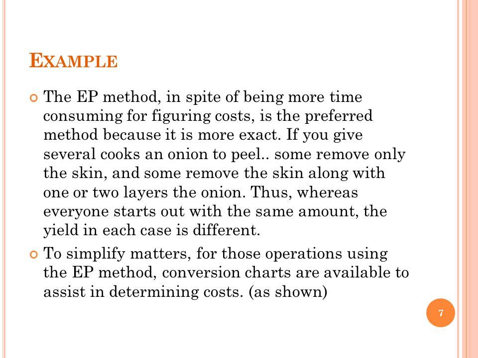 C OSTING B EVERAGES ; E.G. C OFFEE C OST 1.