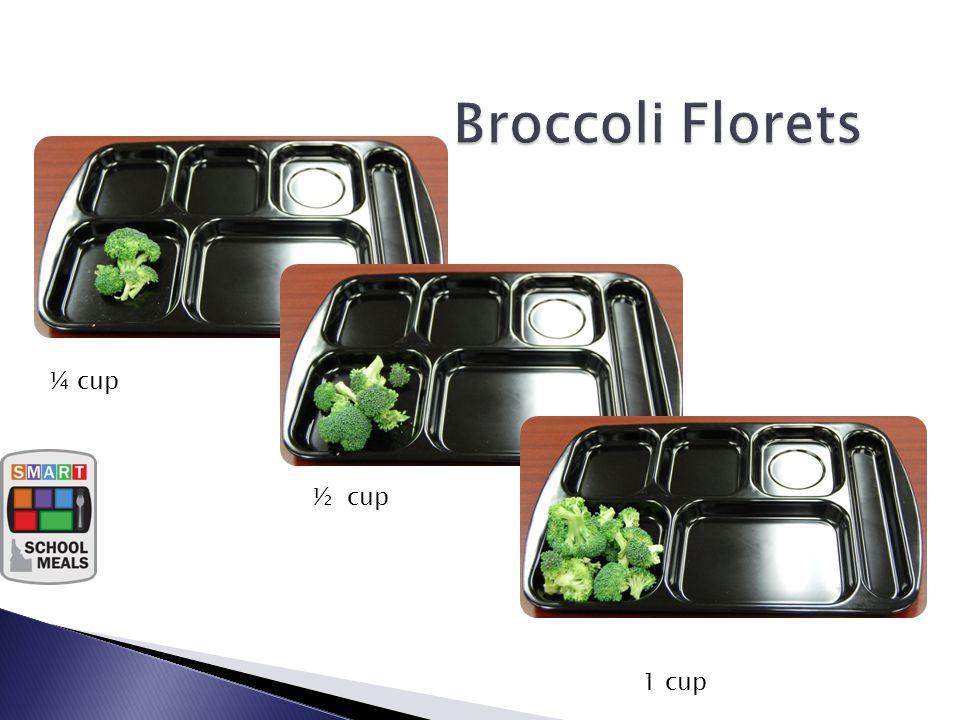 ¼ c Vegetable ½ c Vegetable 1 c Vegetable ¼ cup ½ cup 1 cup