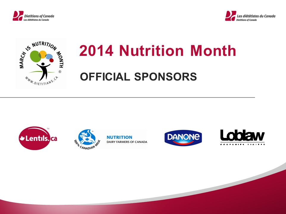 2014 Nutrition Month OFFICIAL SPONSORS