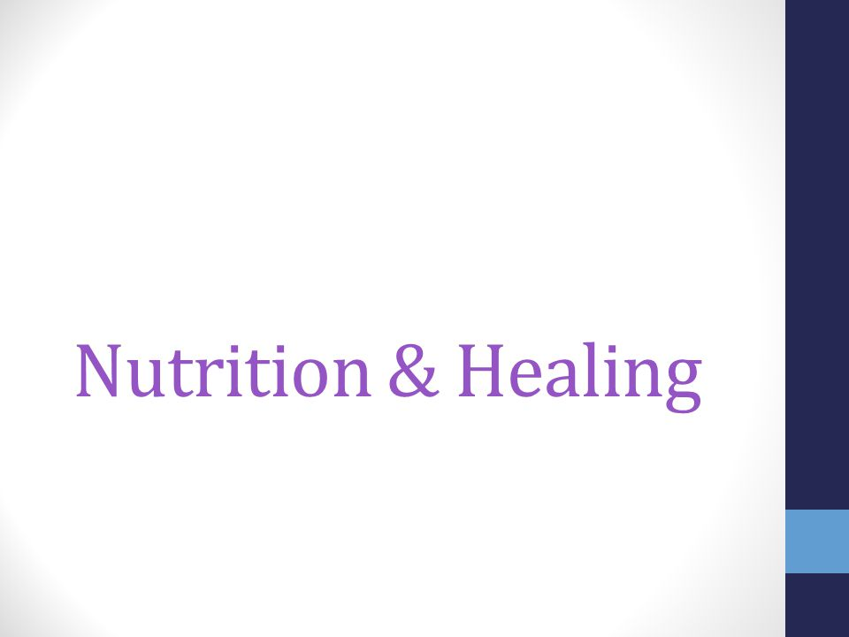 Nutrition & Healing