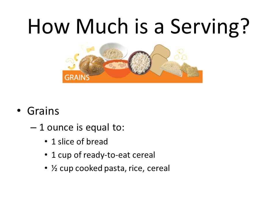 How Much is a Serving.