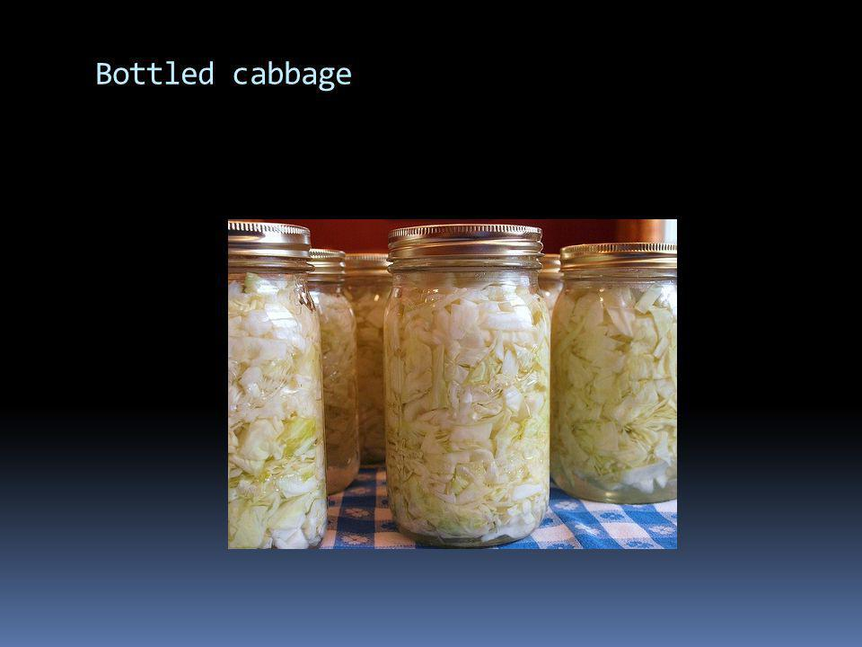 Bottled cabbage