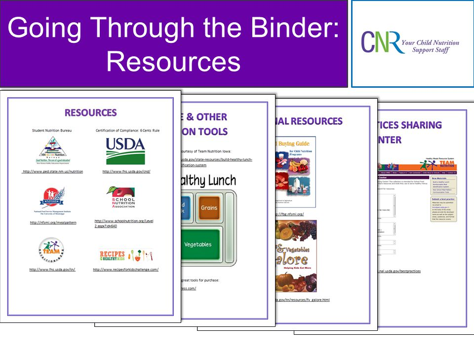 Going Through the Binder: Resources