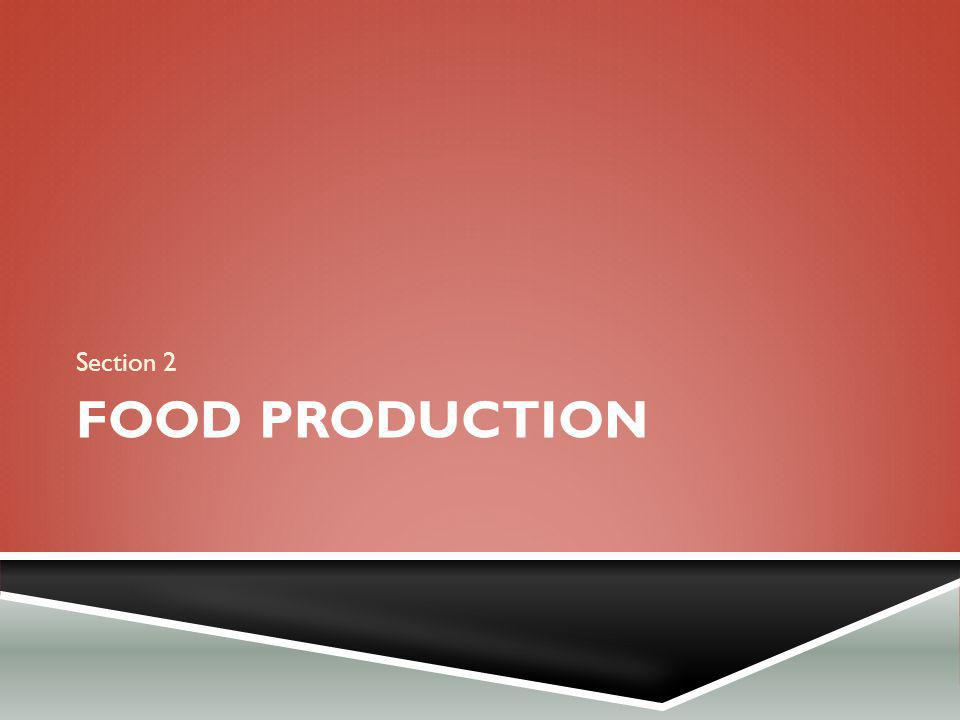 FOOD PRODUCTION Section 2