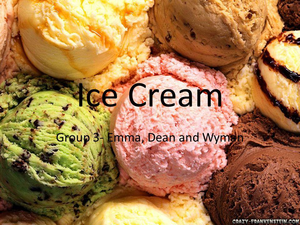 What is ice cream.