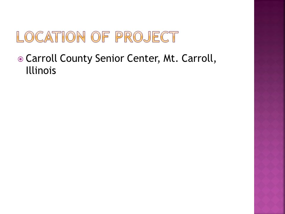 Carroll County Senior Center, Mt. Carroll, Illinois
