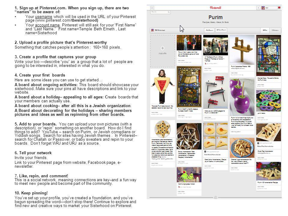 1. Sign up at Pinterest.com.