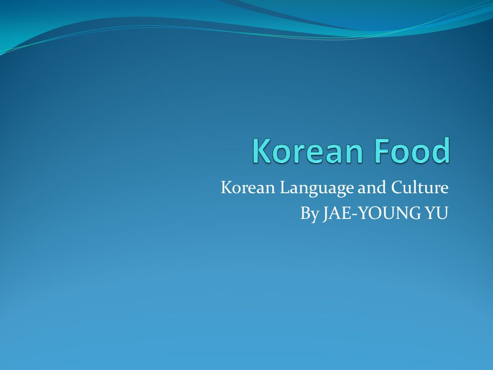 Korean Language and Culture By JAE-YOUNG YU