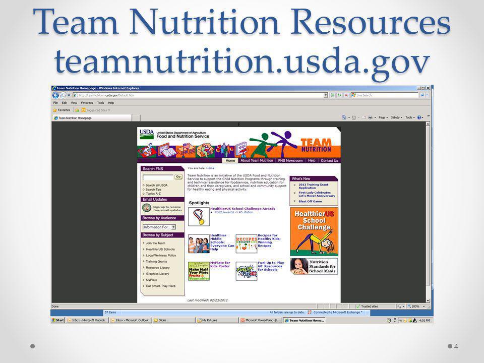 Best Practices Sharing Center at HMRS http://healthymeals.nal.usda.gov/bestpractices 45