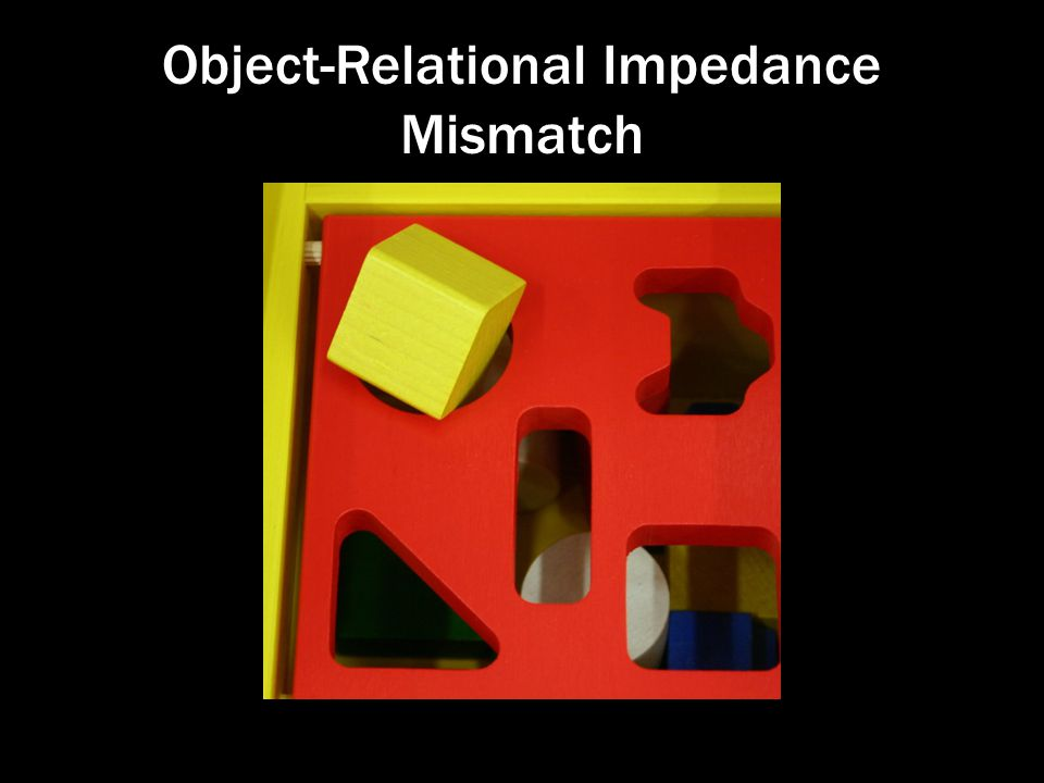 Object-Relational Impedance Mismatch