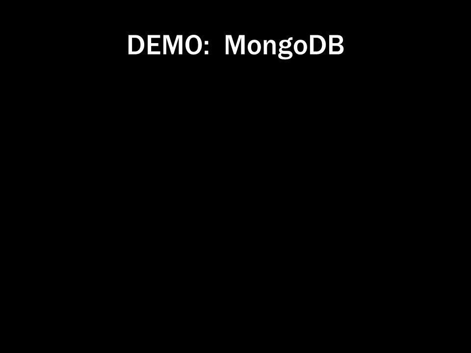 DEMO: MongoDB
