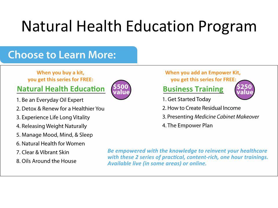 Natural Health Education Program
