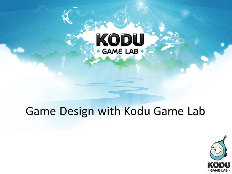 Game Design with Kodu Game Lab