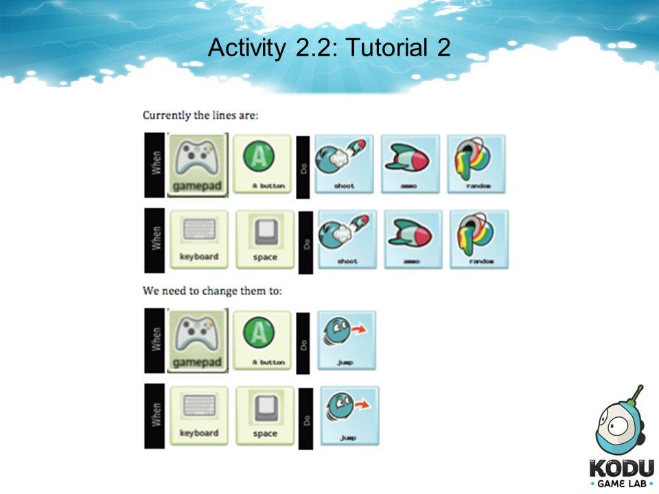 Activity 2.2: Tutorial 2