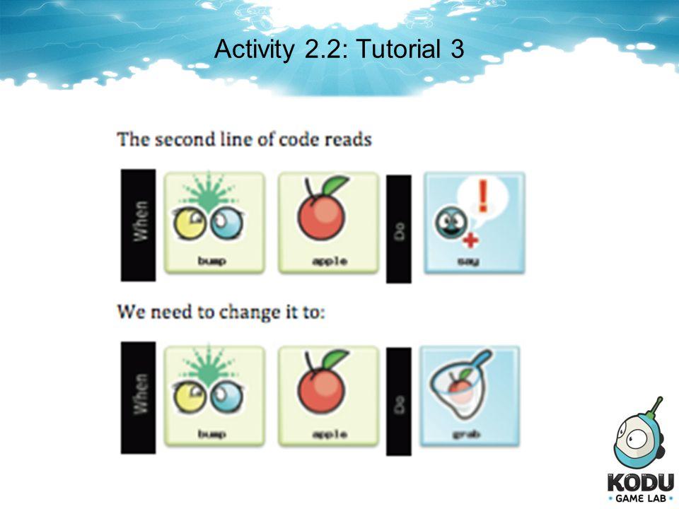 Activity 2.2: Tutorial 3