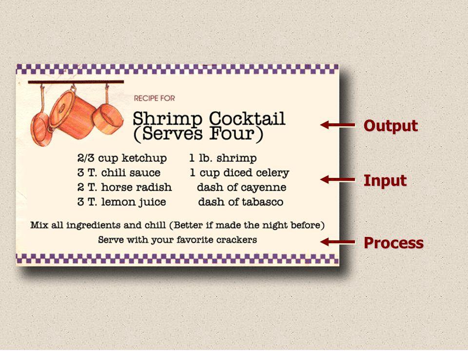 Output Input Process