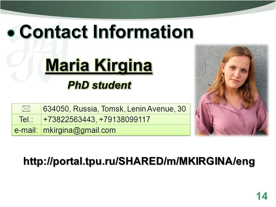 14 http://portal.tpu.ru/SHARED/m/MKIRGINA/eng