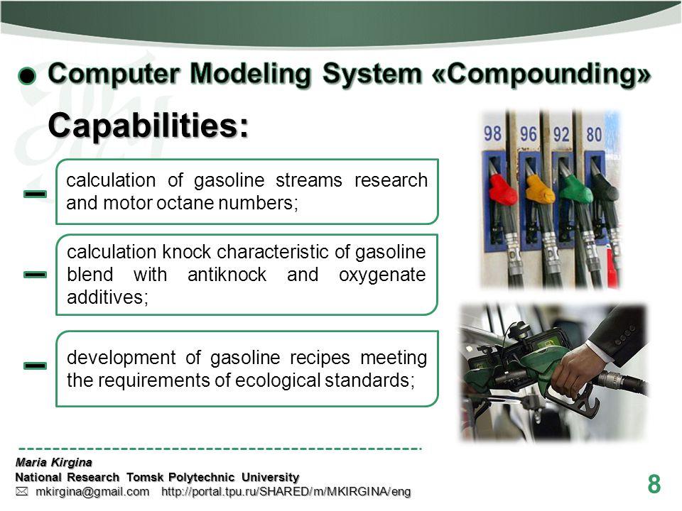 8 Maria Kirgina National Research Tomsk Polytechnic University mkirgina@gmail.com http://portal.tpu.ru/SHARED/m/MKIRGINA/eng mkirgina@gmail.com http:/