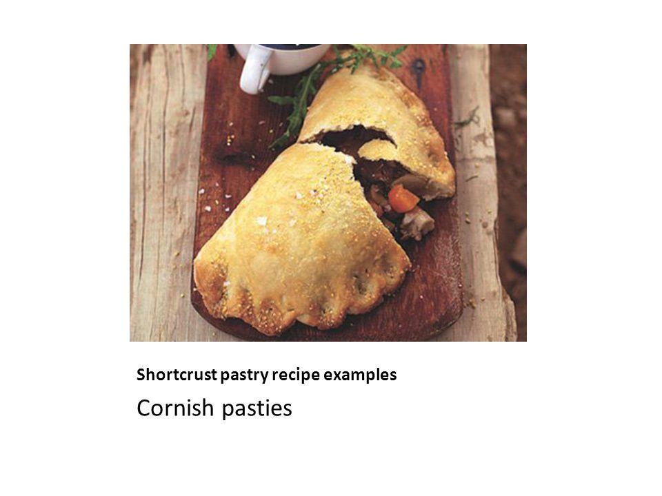 Shortcrust pastry recipe examples Cornish pasties