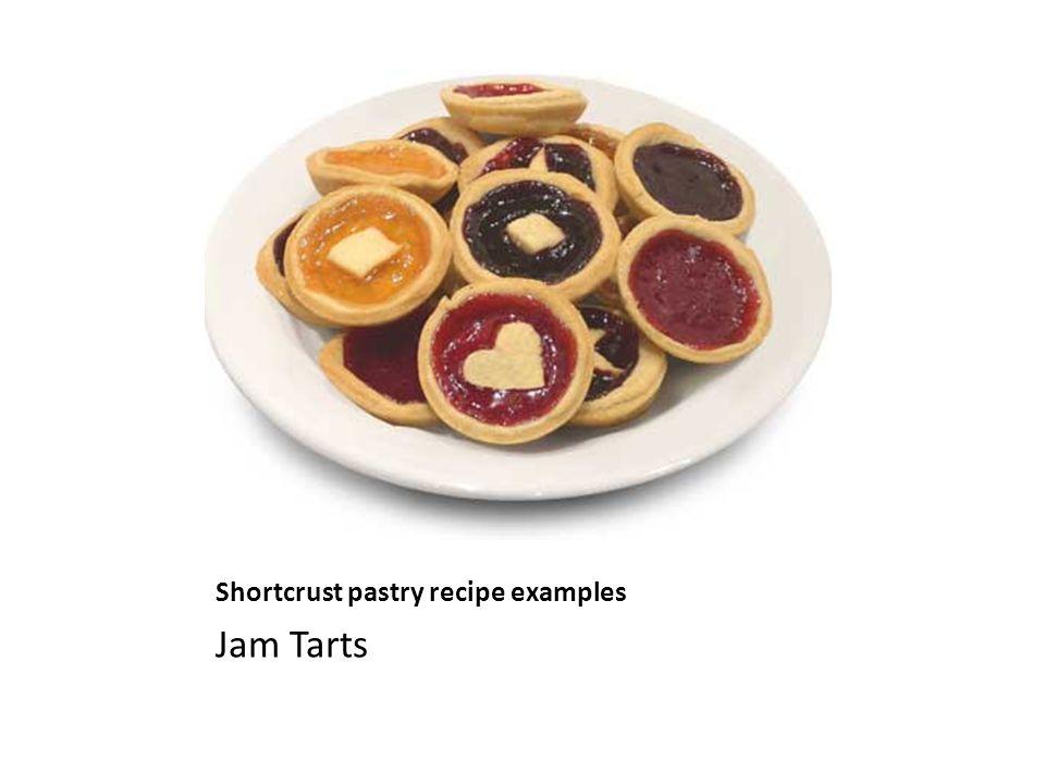 Shortcrust pastry recipe examples Jam Tarts