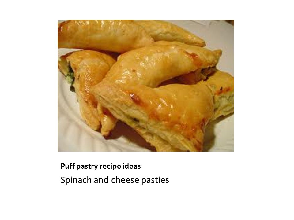 Puff pastry recipe ideas Spinach and cheese pasties
