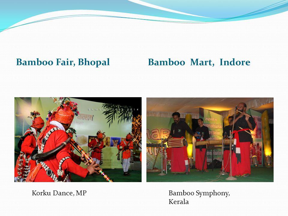 Bamboo Fair, Bhopal Bamboo Mart, Indore Korku Dance, MPBamboo Symphony, Kerala