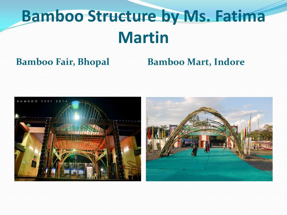 Bamboo Structure by Ms. Fatima Martin Bamboo Fair, Bhopal Bamboo Mart, Indore