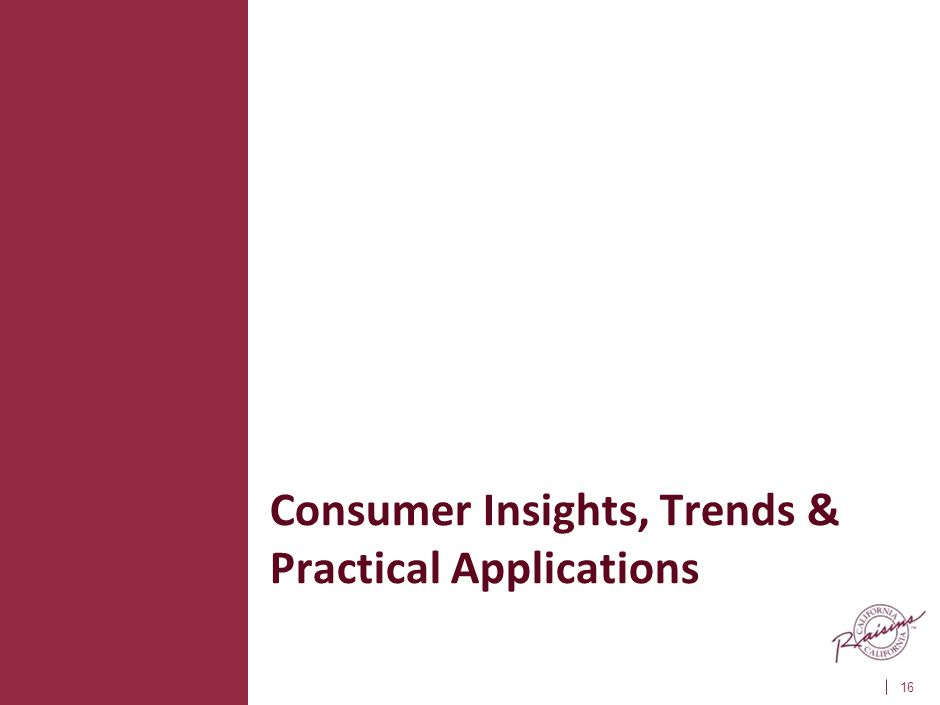 Consumer Insights, Trends & Practical Applications 16