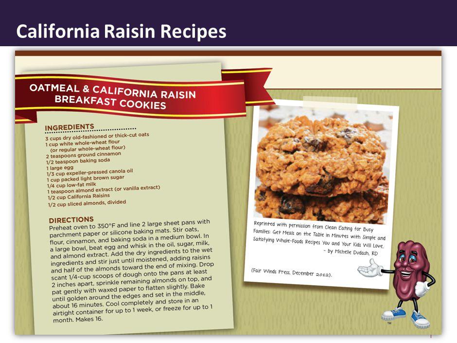 California Raisin Recipes