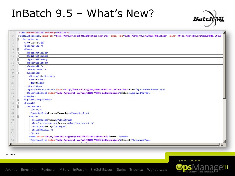 Slide 42 InBatch 9.5 – Whats New?
