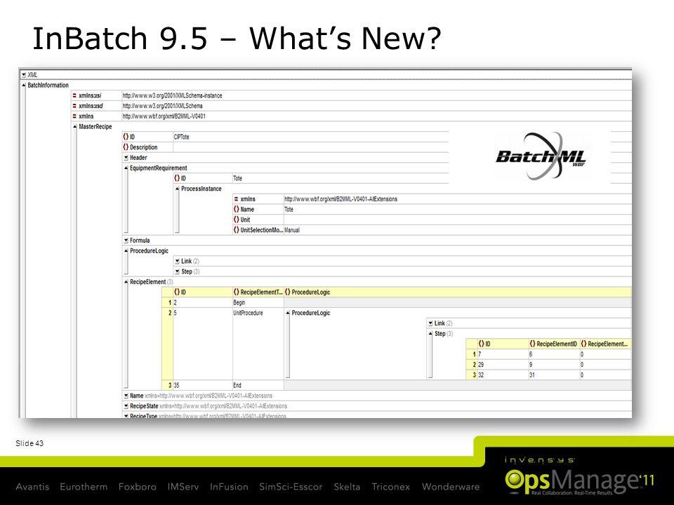 Slide 43 InBatch 9.5 – Whats New?