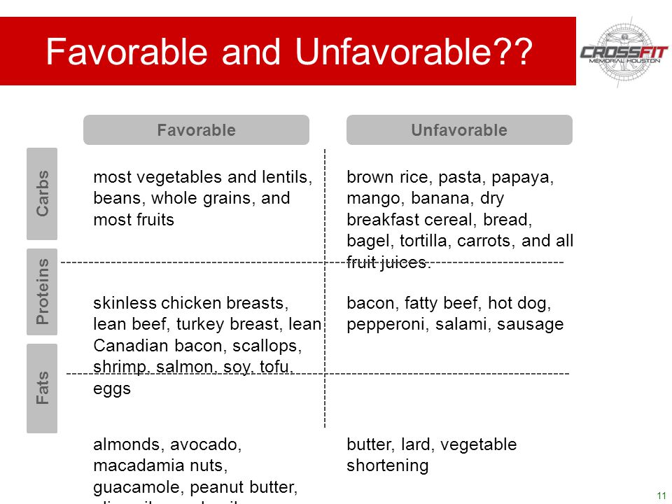 11 most vegetables and lentils, beans, whole grains, and most fruits brown rice, pasta, papaya, mango, banana, dry breakfast cereal, bread, bagel, tortilla, carrots, and all fruit juices.