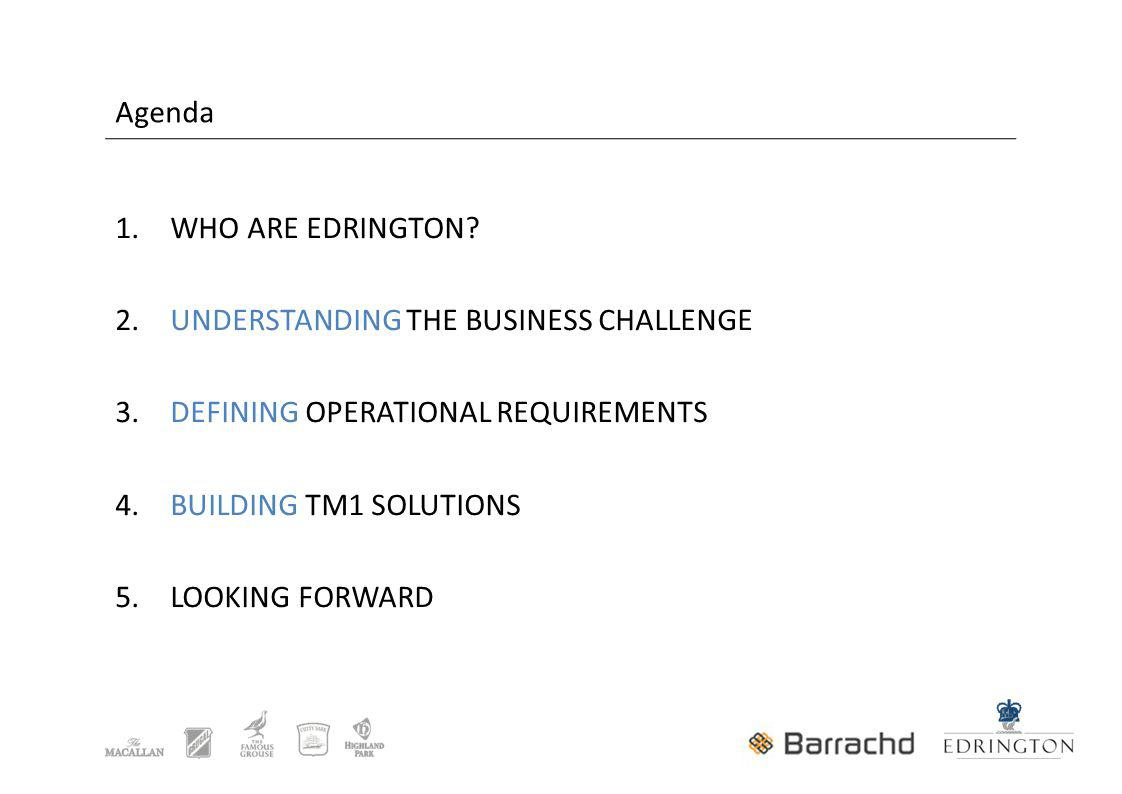 1. WHO ARE EDRINGTON. 2. UNDERSTANDING THE BUSINESS CHALLENGE 3.