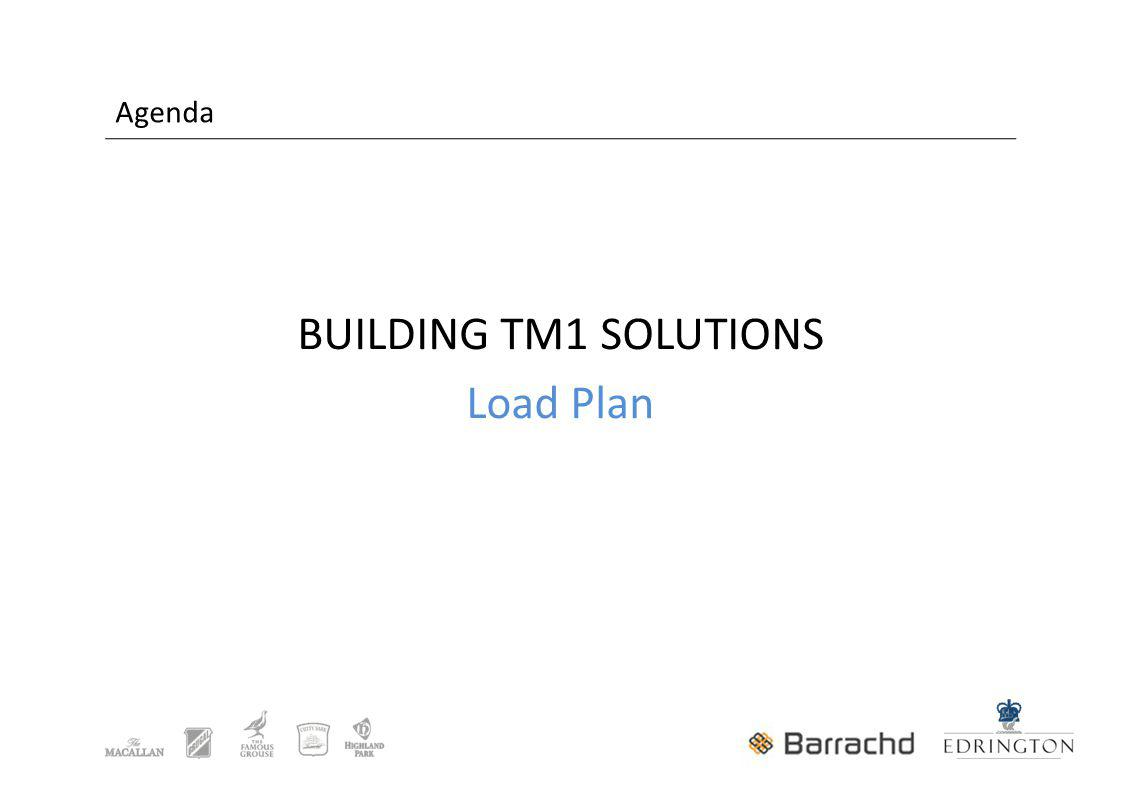 Agenda BUILDING TM1 SOLUTIONS Load Plan