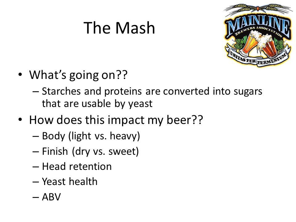 The Mash Whats going on .