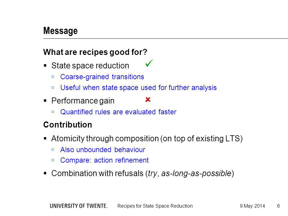 Message What are recipes good for.