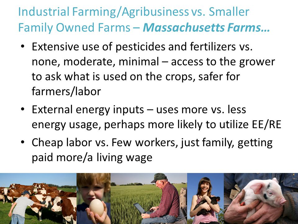 Industrial Farming/Agribusiness vs.