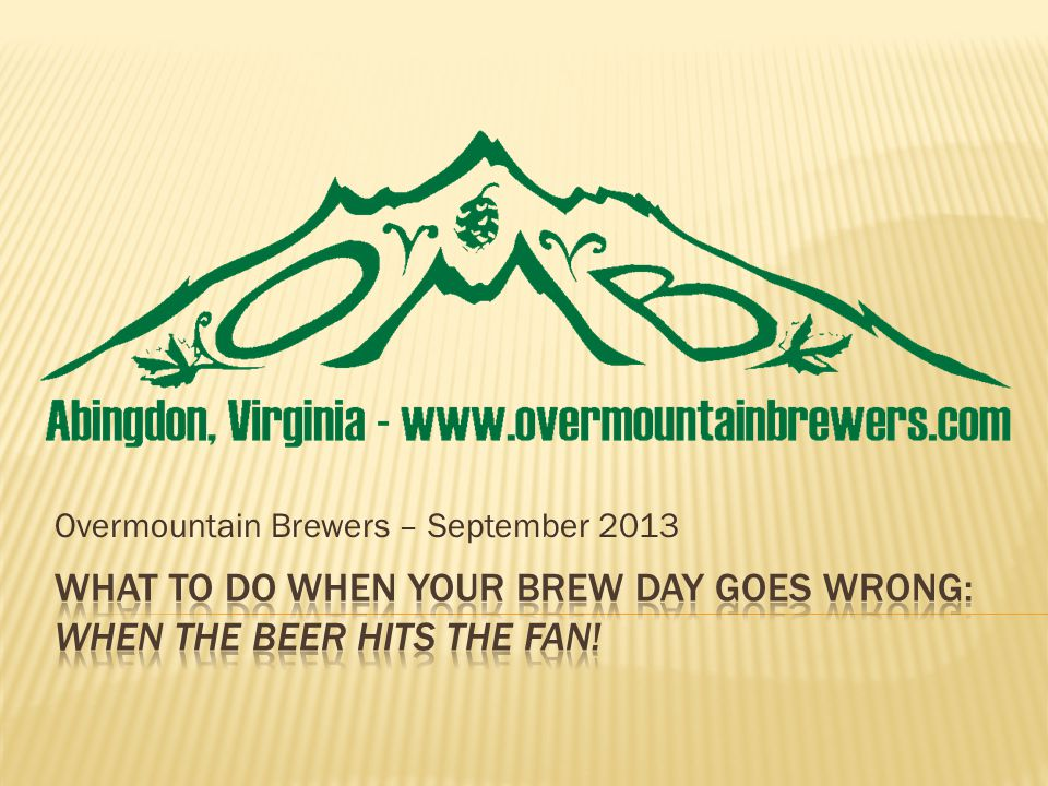 Overmountain Brewers – September 2013