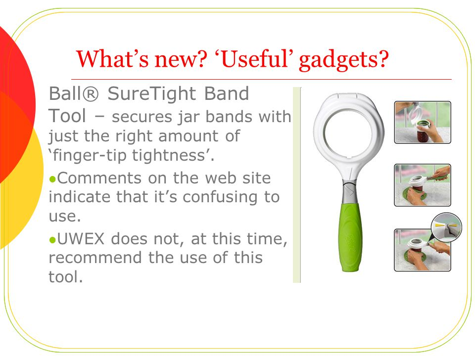 Whats new. Useful gadgets.