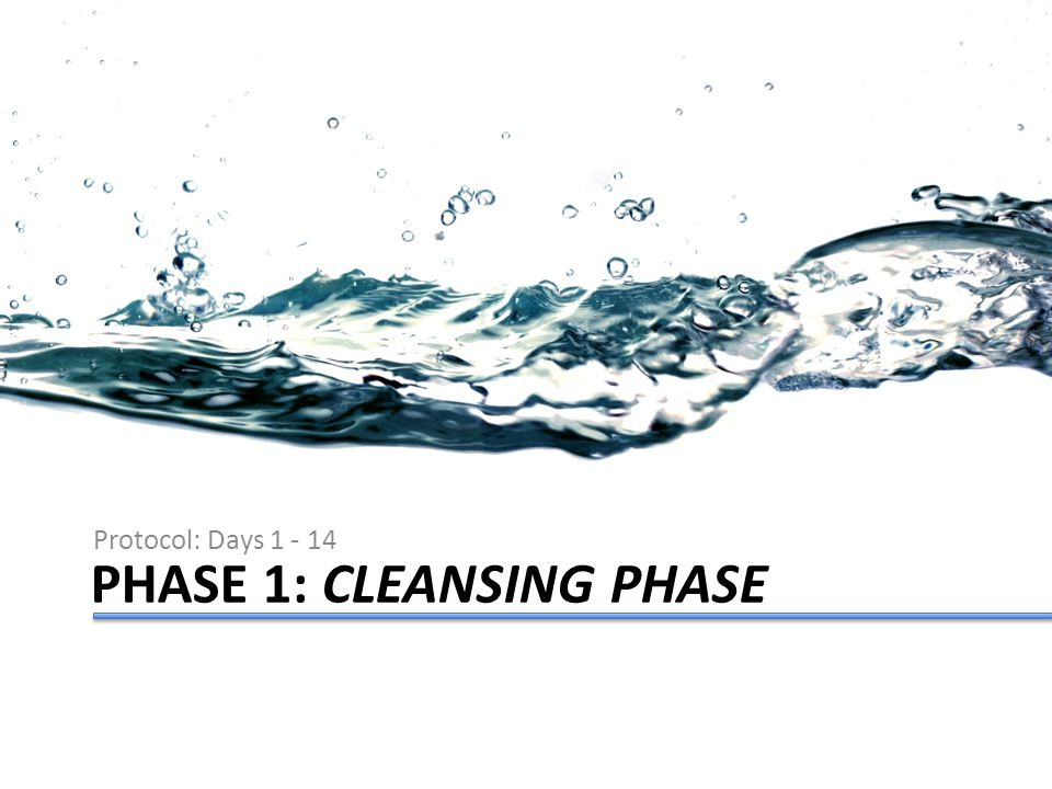 PHASE 1: CLEANSING PHASE Protocol: Days 1 - 14