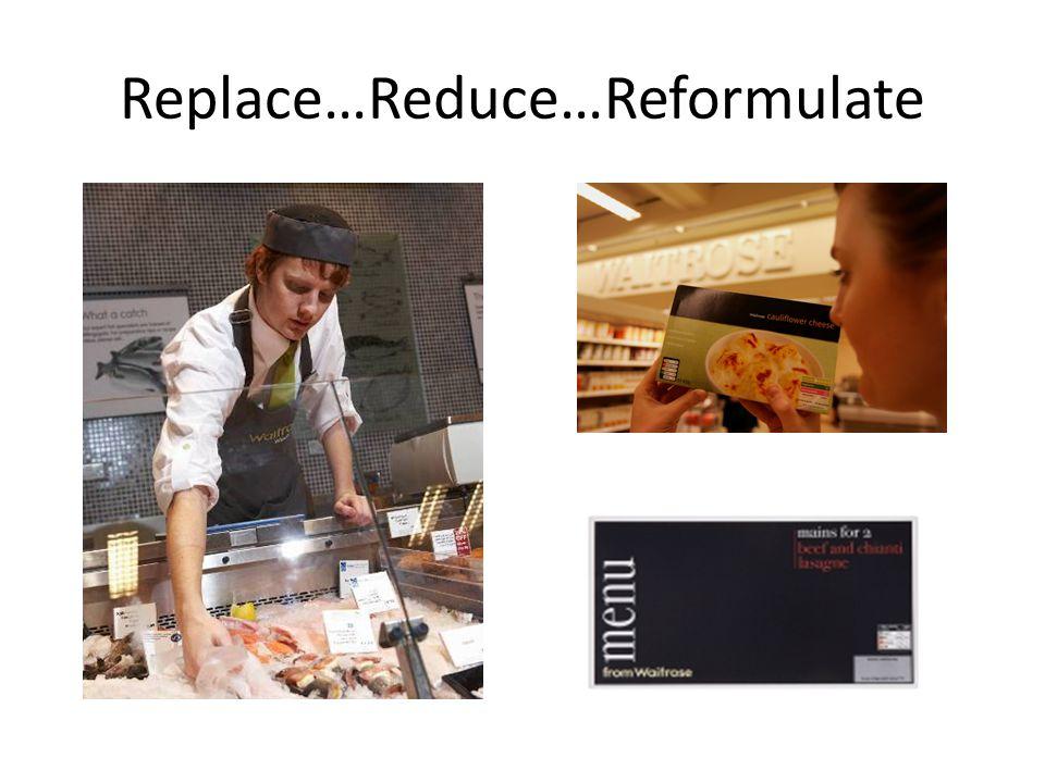 Replace…Reduce…Reformulate