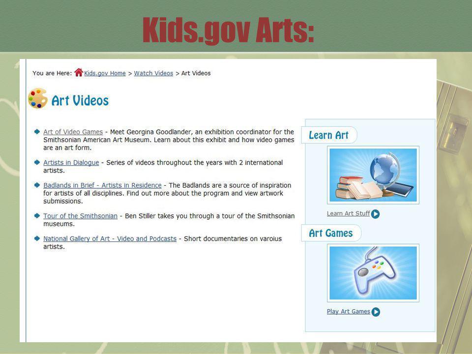 Kids.gov Arts: