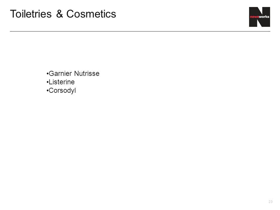 23 Toiletries & Cosmetics Garnier Nutrisse Listerine Corsodyl